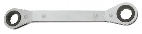 Ratschenringschlüssel, abgebogen, ELORA-115G-21x22 mm