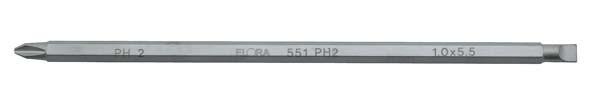 Schraubendreherklinge Variant, Schlitz und Kreuzschlitz, ELORA-551-PH 2