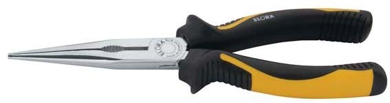 Flachrundzange mit Schneide, gerade Form, mit 2-K-Griffschutzhüllen, ELORA-470-BI 165