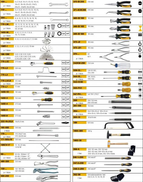 Werkzeugsortiment 146-teilig, ELORA-WS-5M