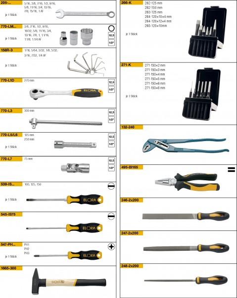 Werkzeugsortiment 64-teilig, ELORA-WS-1A