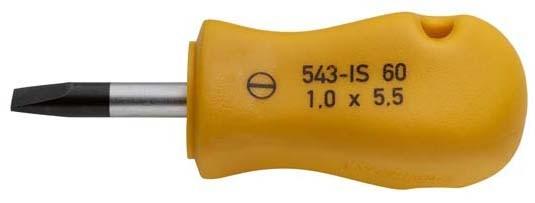 Schchraubendreher, kurze Form, Schlitz 0,6x3,5, ELORA-543-IS 45