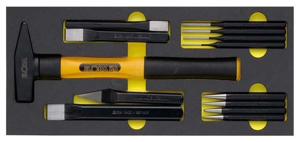 Handschlagwerkzeugsatz, 13-teilig, ELORA-OMS-8
