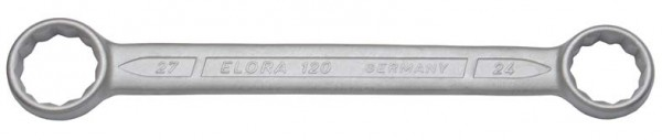 Doppelringschlüssel, gerade DIN 837, ELORA-120-25x28 mm