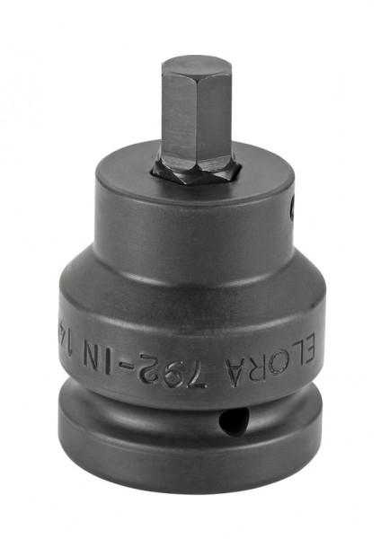 """Kraft-Schraubendreher-Einsatz 1"""", Innen-Sechskant, ELORA-792IN-12 mm"""