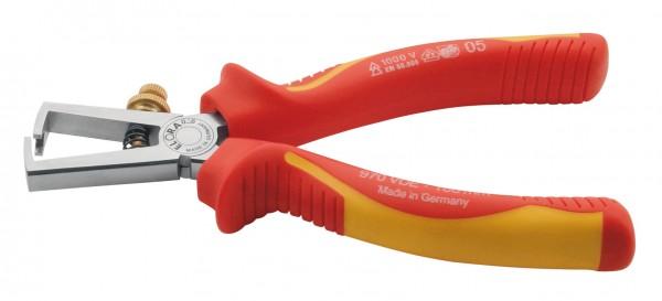 VDE-Abisolierzange mit isolierten Griffschutzhüllen, ELORA-970-160