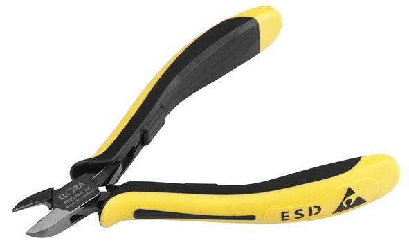 Elektronik Seitenschneider mit Drahthaltefeder ESD, mit Wate, ELORA-4540-M E 2K