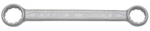 Doppelringschlüssel, gerade DIN 837, ELORA-120-20x22 mm