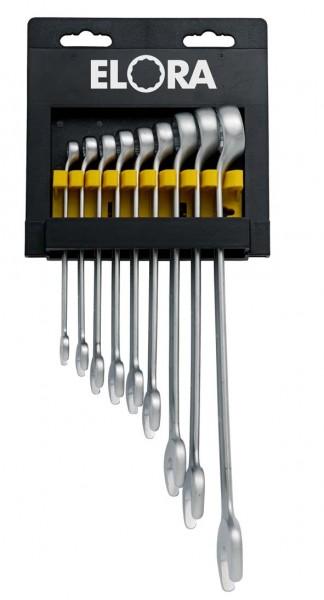 Ringmaulschlüssel-Satz DIN 3113, Form B, 9-teilig 8-22 mm, ELORA-205-KH 9