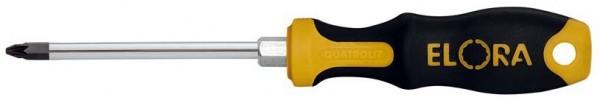 Schraubendreher PZ2, Supa-Pozidriv, mit 6-kant-Schlüsselhilfe, ELORA-569-PZ 2