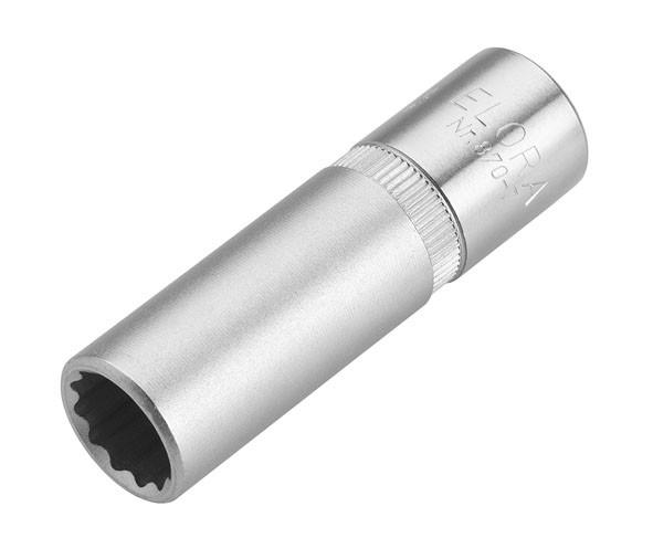 """Steckschlüssel-Einsatz 3/8"""", extra tief, ELORA-870-T 12 mm"""