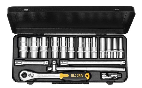 "Steckschlüssel-Satz 1/2"", Zwölfkant, 18-teilig 10-32 mm, ELORA-770-LTIK"