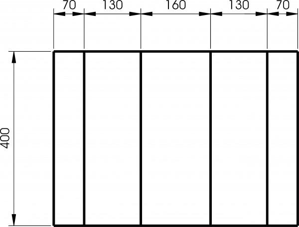 Schubladeneinteiler 6-teilig für Werkzeugwagen Buddy, ELORA-1210-ET 6