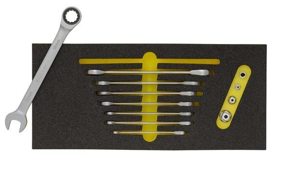 Maulschlüsselsatz mit Ringratsche, 8-teilig, ELORA OMS-30