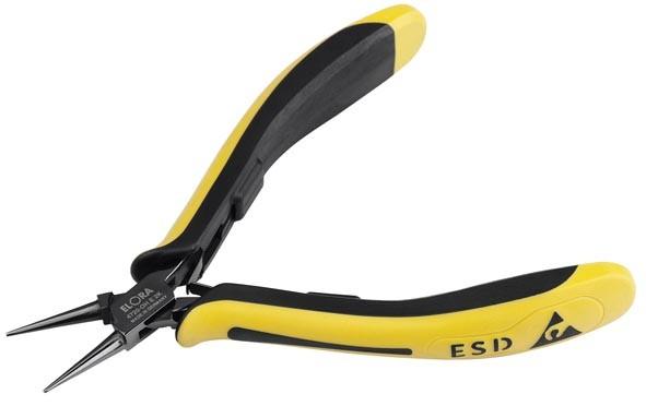 Elektronik Rundzange ESD mit glatter Greiffläche, ELORA-4720-OH E 2K