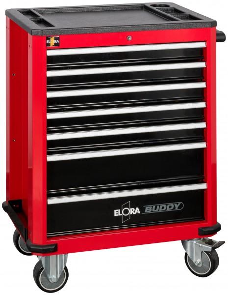Werkzeugwagen Buddy, rot, leer, ELORA-1210-L7R