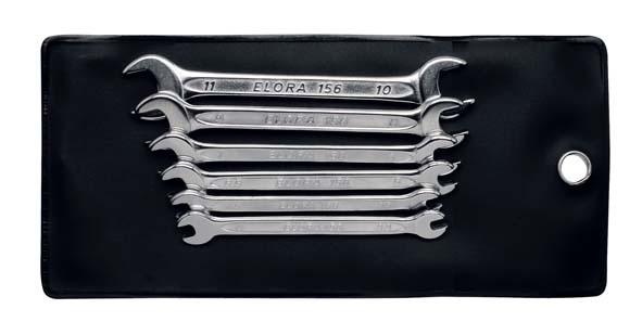 Mini-Doppelmaulschlüssel-Satz, 6-teilig 3,2-11 mm, ELORA-156S6M