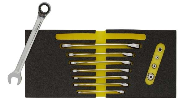 Maulschlüssel mit Ringratsche umschaltbar, 12-teilig, ELORA-OMS-33