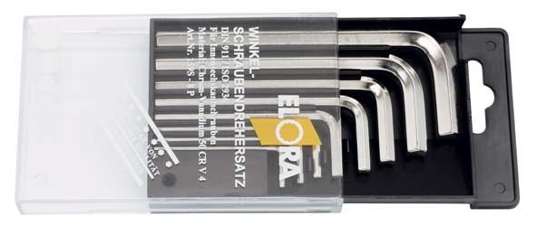 Winkelschraubendreher-Satz, 8-teilig 2-10 mm, mit Kunststoffkassette, ELORA-159S-8P