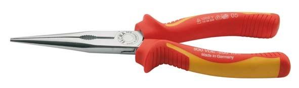 VDE-Flachrundzange mit isolierten Griffschutzhüllen, ELORA-930-165