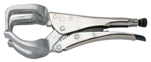 Alu-Schweisser-Gripzange, V-Form, Spannweite 0-100 mm, ELORA-510A-280