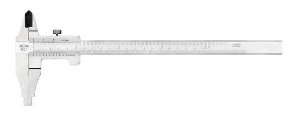 Werkstatt-Messschieber mit Feststellschraube, Messbereich 250 mm, ELORA-1520-250
