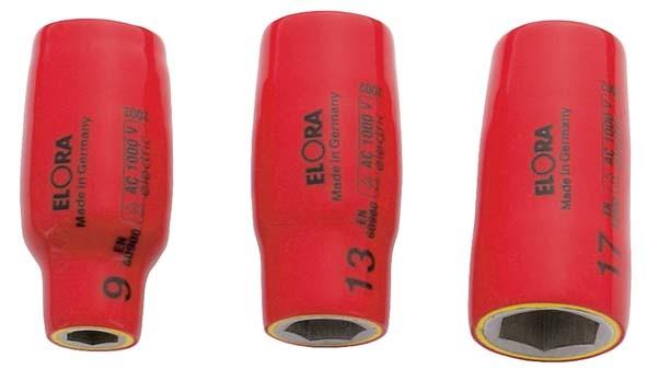"""VDE-Steckschlüsseleinsatz 1/2"""", ELORA-971-9 mm"""