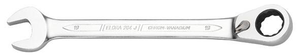 Satz-Maulschlüssel mit Ringratsche, umschaltbar, 8-teilig, + Adaptoren, ELORA-204-JS 8M OMS
