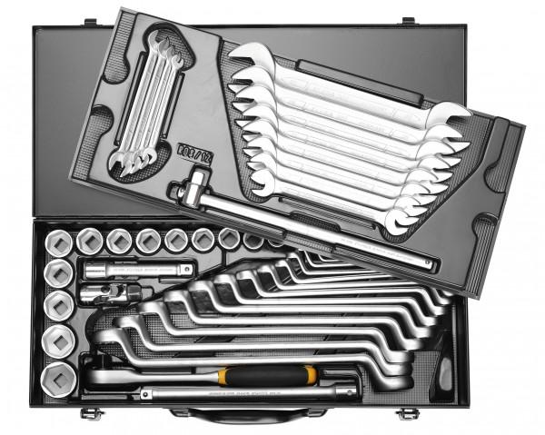 """Steckschlüssel-Kombinations-Satz 1/2"""", 6-kant, 49-teilig 10-32 mm, ELORA-771-RDS12MU"""