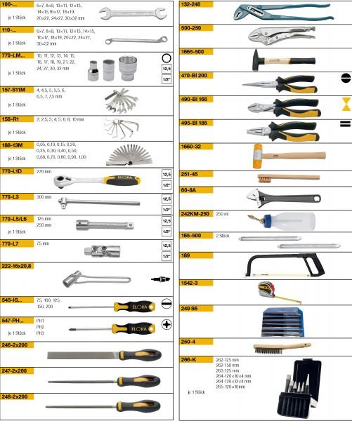 Werkzeugsortiment 90-teilig, ELORA-WS-2M