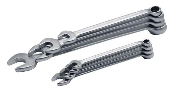Ringmaulschlüssel-Satz DIN 3113, Form B, 12-teilig 6-22 mm, ELORA-205S 12M