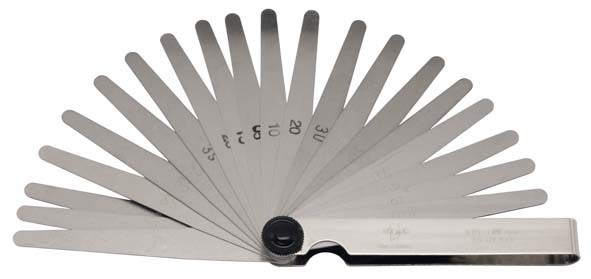 Fühlerblattlehre, 8-teilig 0,03-0,10 mm, ELORA-188-81M