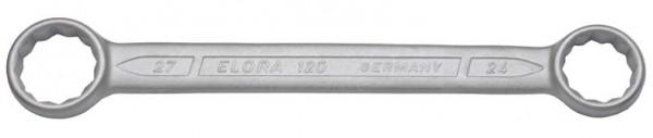 Doppelringschlüssel, gerade DIN 837, ELORA-120-8x9 mm