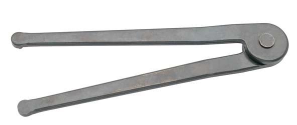 Zweilochmutternschlüssel, verstellbar, ELORA-892-6