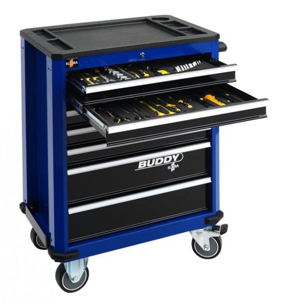 Werkzeugwagen Buddy, blau, leer, ELORA-1210-LBOT