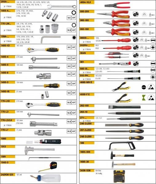 Werkzeugsortiment 128-teilig, ELORA-WS-4A