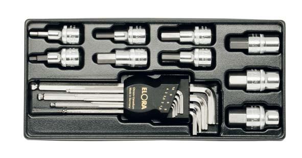 """Inbus-Steckschlüsselsatz 1/2"""", 18-teilig, ELORA-MS-13"""