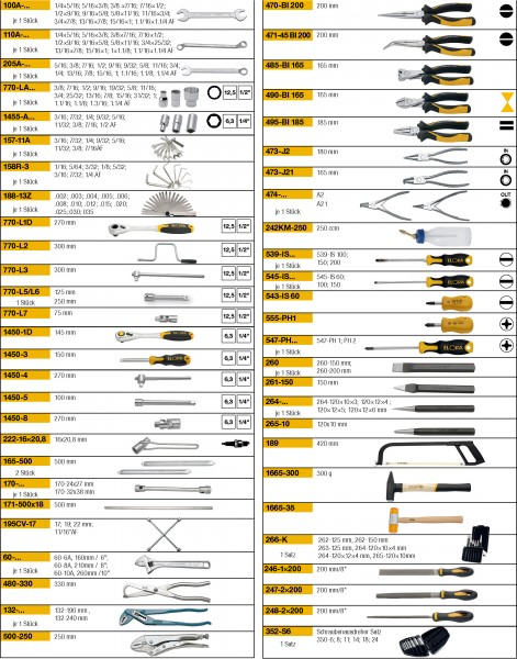 Werkzeugsortiment 151-teilig, ELORA-WS-5A