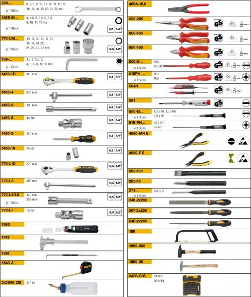 Werkzeugsortiment 131-teilig, ELORA-WS-4M