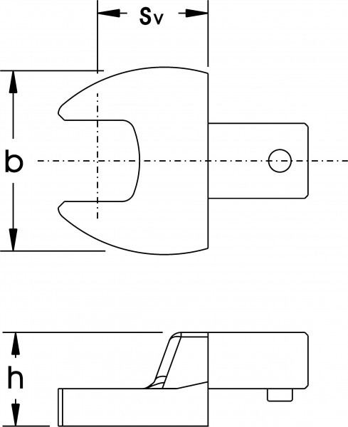 Einsteck-Maulschlüssel, 9x12 mm, ELORA-2052-12 mm