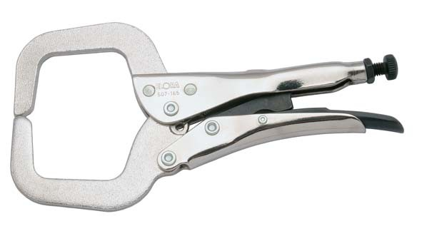 Klammergripzange, C-Form, Spannweite 0-50 mm, ELORA-507-165s