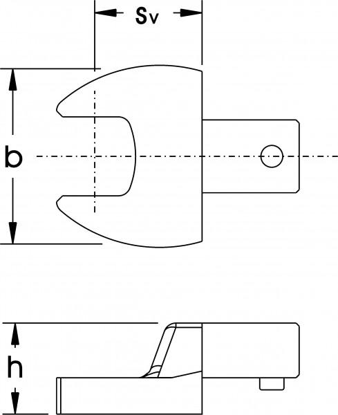 Einsteck-Maulschlüssel, 14x18 mm, ELORA-2056-15 mm
