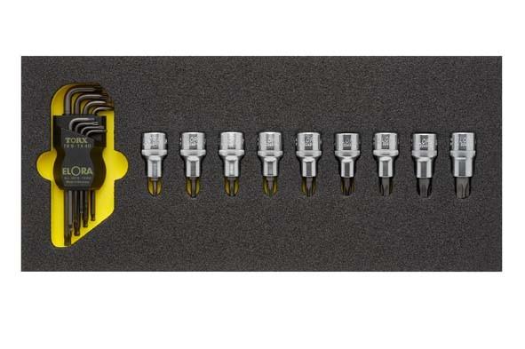 TORX®-Werkzeugsatz, 17-teilig, ELORA-OMS-18