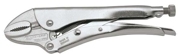 Gripzange mit Drahtabschneider, runde Backen, Spannweite 35 mm, ELORA-500-180