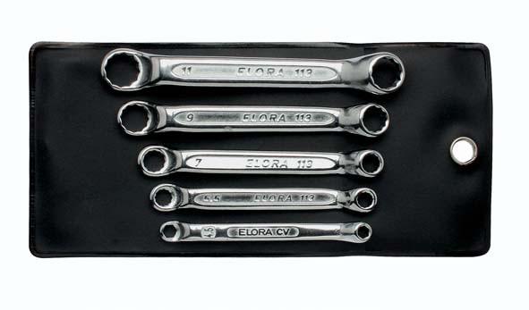 Doppelringschlüssel-Satz, extra kurz, 3-teilig 4-11 mm, ELORA-113S 3M
