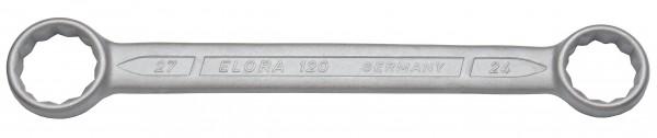 Doppelringschlüssel, gerade DIN 837, ELORA-120-24x26 mm