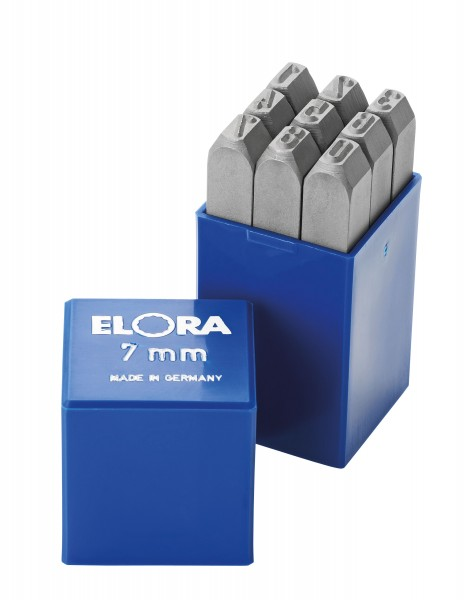 Schlagziffern-Satz, 9-teilig, ELORA-400Z-15 mm