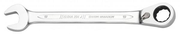 Maulschlüssel mit Hebel-Ringratsche, umschaltbar, ELORA-204-J 13 mm