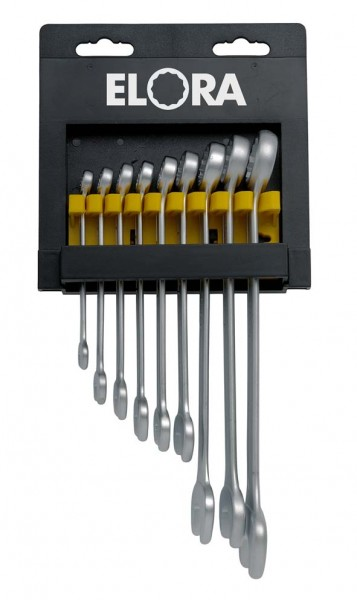 Ringmaulschlüssel-Satz, 9-teilig 8-22 mm, ELORA-203KH-9