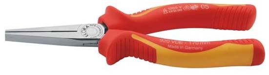 VDE-Flachzange mit isolierten Griffschutzhüllen, ELORA-920-165